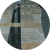 polished natural stone floor