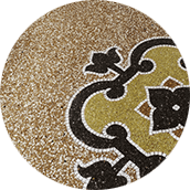 naturally finished terrazzo floor