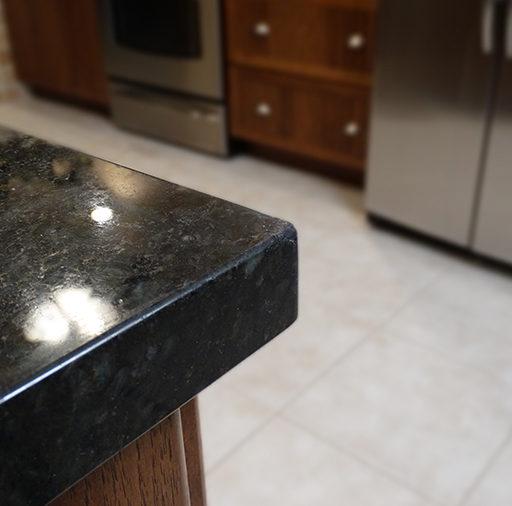Precision Repair On Chipped Granite Countertop