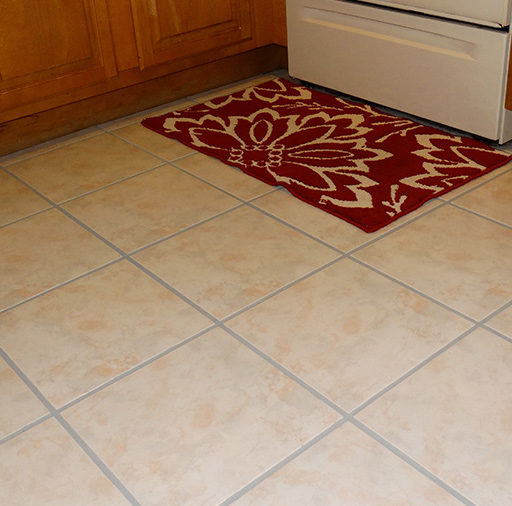 Tile and Grout Floor Deep Cleaned and Color Sealed